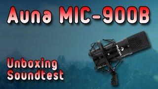 [Auna MIC-900B] Unboxing + Soundtest [German] (mein Mikrofon)
