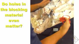 block radio waves even with holes in aluminum foil a science with bobert video short