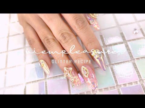뷰확행  Live -  글리터 레시피 네일아트 /  glitter recipe nail art