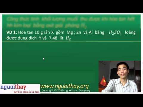 Các công thức giải nhanh và ví dụ trong hóa vô cơ (phần 1)