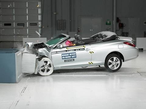 2007 toyota camry solara moderate overlap iihs crash test. Black Bedroom Furniture Sets. Home Design Ideas