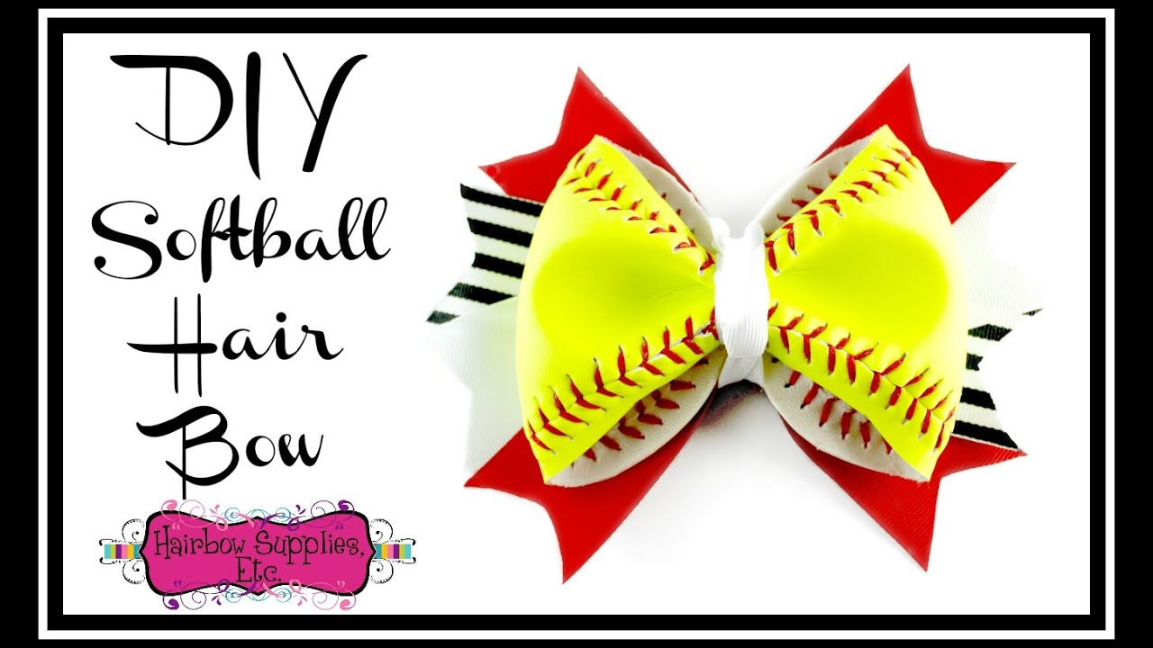 foto de DIY Softball Hair Bow Using a REAL Softball Hairbow