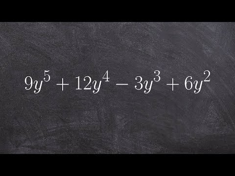 Learn how to visualize factoring out GCF from a polynomial
