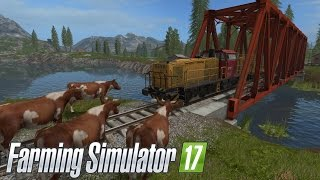 CAN 100+ COWS STOP THE TRAIN IN FARMING SIMULATOR 2017?