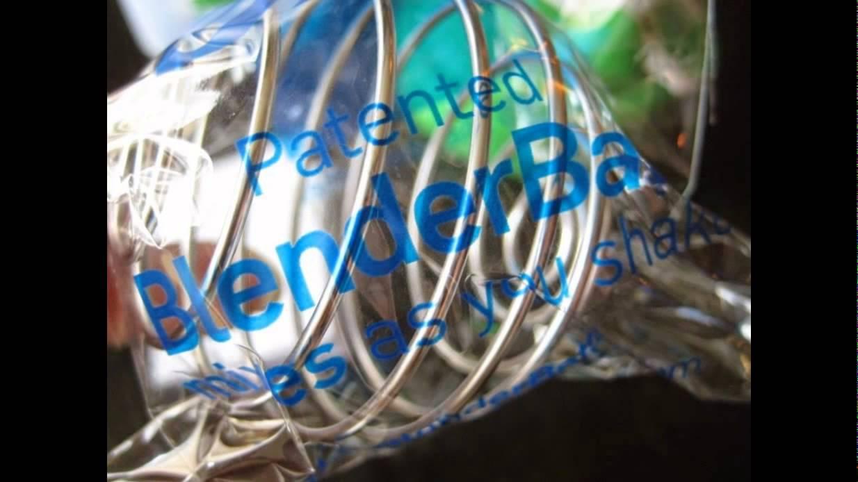 iHerb Goods, Blender Bottle with Blender Ball, Green, 28 oz - YouTube