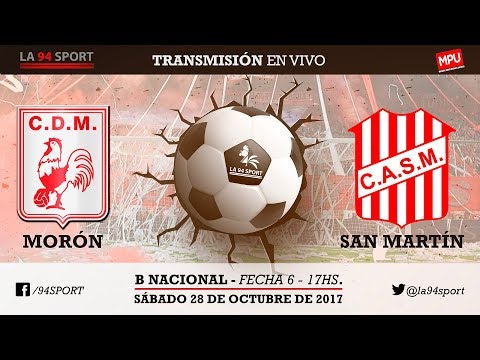 [VIVO] Dep. Morón VS San Martín (T) / Fecha 6 - B Nacional En Vivo