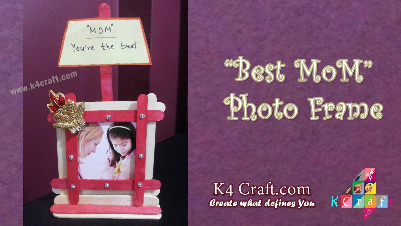DIY How To Make Ice Cream Stick Photo Frame At Home