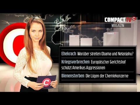 COMPACT-TV: Obama gegen Netanjahu?, EU-Justiz gegen Frieden, Gift gegen die Natur