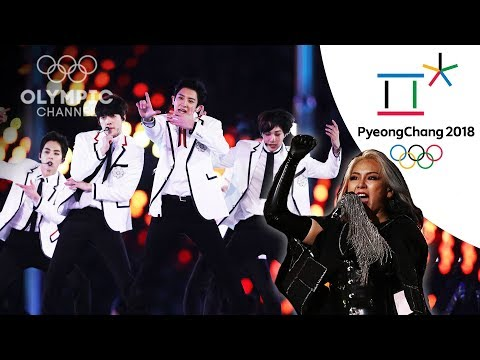 EXO and CL perform live at the Closing Ceremony   Winter Olympics 2018   PyeongChang