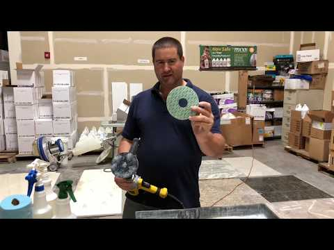 How to/ Honing and polishing marble stone clean center training /DIY projects