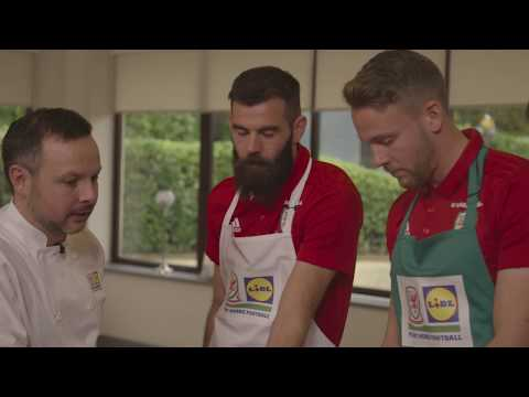 We had Aaron Ramsey and Chris Gunter go head-to-head in our Dragon's Kitchen cooking challenge!
