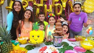 Heidi  🎂حفلة عيد ميلاد سعيد التاسع مع العائلة والأصدقاء hzhtube kids fun