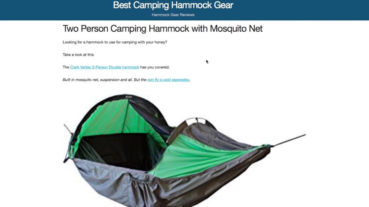 YouTube Premium  sc 1 st  YouTube & One Of The Few Two Person Camping Hammocks With A Mosquito Net - YouTube