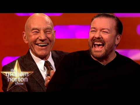 Sir Patrick Stewart & Ricky Gervais Couldn't Stop Laughing Over The Word 'Panties'