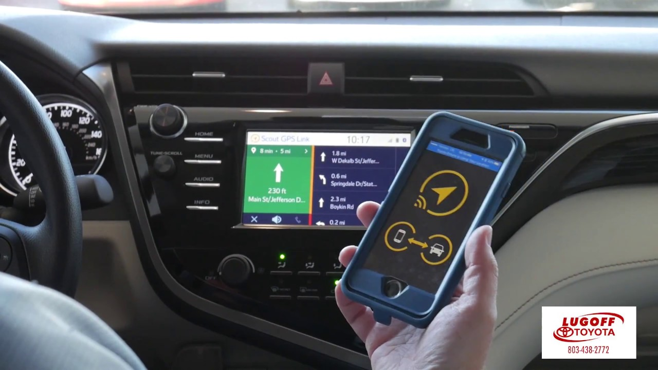 Scout GPS with the 2018 Toyota Camry and iPhone