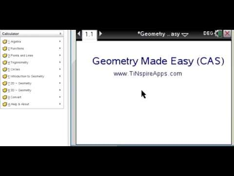 Step by Step : Geometry Made Easy for the TI-NSpire CX CAS