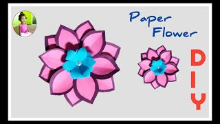 How to make ! Easy and Beautiful Paper Flowers | Paper Craft | DIY Home Decor