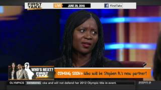 ESPN FIRST TAKE 6 29 2016 ANNIE APPLE ON JOHNNY MANZIEL DEFENSIVE OVER WOMAN'S 'COCAINE' PHOTO