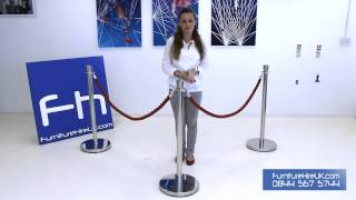 Rope Barrier Demo - Furniture Hire Uk