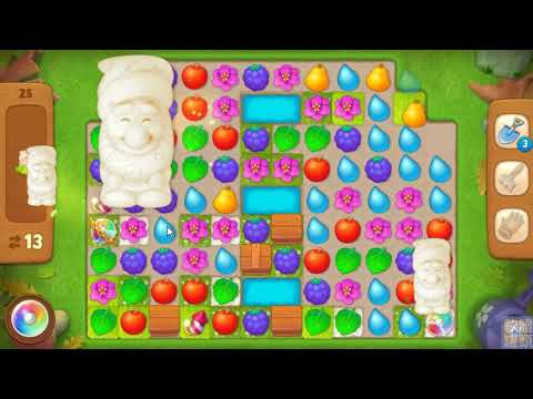 Gardenscapes 夢幻花園 LEVEL 25 (HARD LEVEL) NO BOOSTERS - YouTube