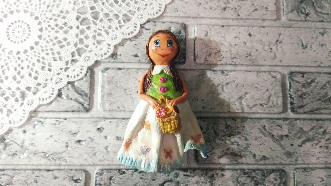 Кукла из соленого теста своими руками.Сувенир.Декор интерьера.Как сделать куклу.Doll.DIY.