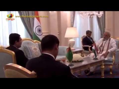 PM Modi meets Turkmenistan President Gurbanguly Berdimuhamedov in Ashgabat | Mango News