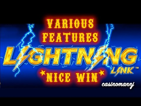 LIGHTNING LINK - VARIOUS FEATURES - *NICE WINS* - Slot Machine Bonus - 동영상