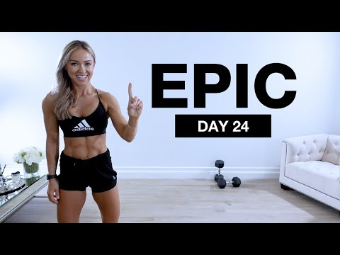 Day 24 of EPIC | Full Body Dumbbell Workout [NO JUMPING / SUPERSET]