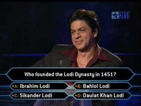 KBC 3 - Hilarious Contestant wid Shahrukh Khan (+subtitles!)
