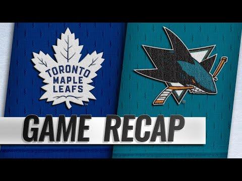Kapanen scores twice to help Leafs top Sharks, 5-3
