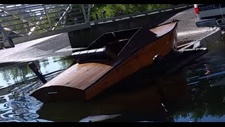 plywood boat launch fail!!! 18+