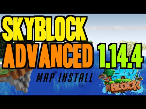 how-to-get-skyblock-1.14.4-map-for-minecraft---download-&-install-skyblock-advanced-1.14.4