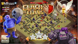 Clash of Clans : TH10 - Golem+Bowler+Healer Attack Strategy for WAr !