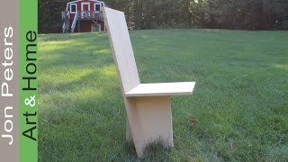 Answer To The Mystery Wood + Build A Full Size Model Chair With MDF