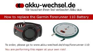 akku-Wechsel bei der Garmin Forerunner 110 GPS-Uhr