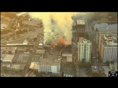 "Oakland,California Structure_Fire 7-7-17 ""4-Alarm Fire"""