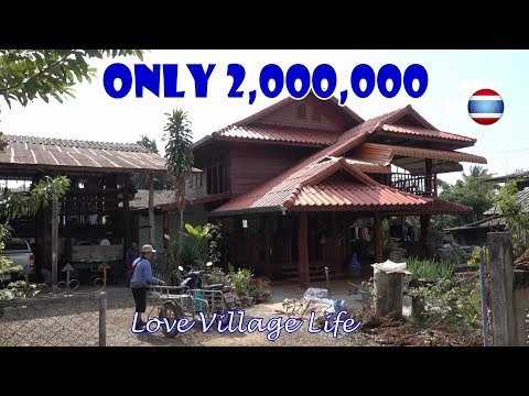 Thai Teak Wood Houses Ban Tham Village Northern Thailand