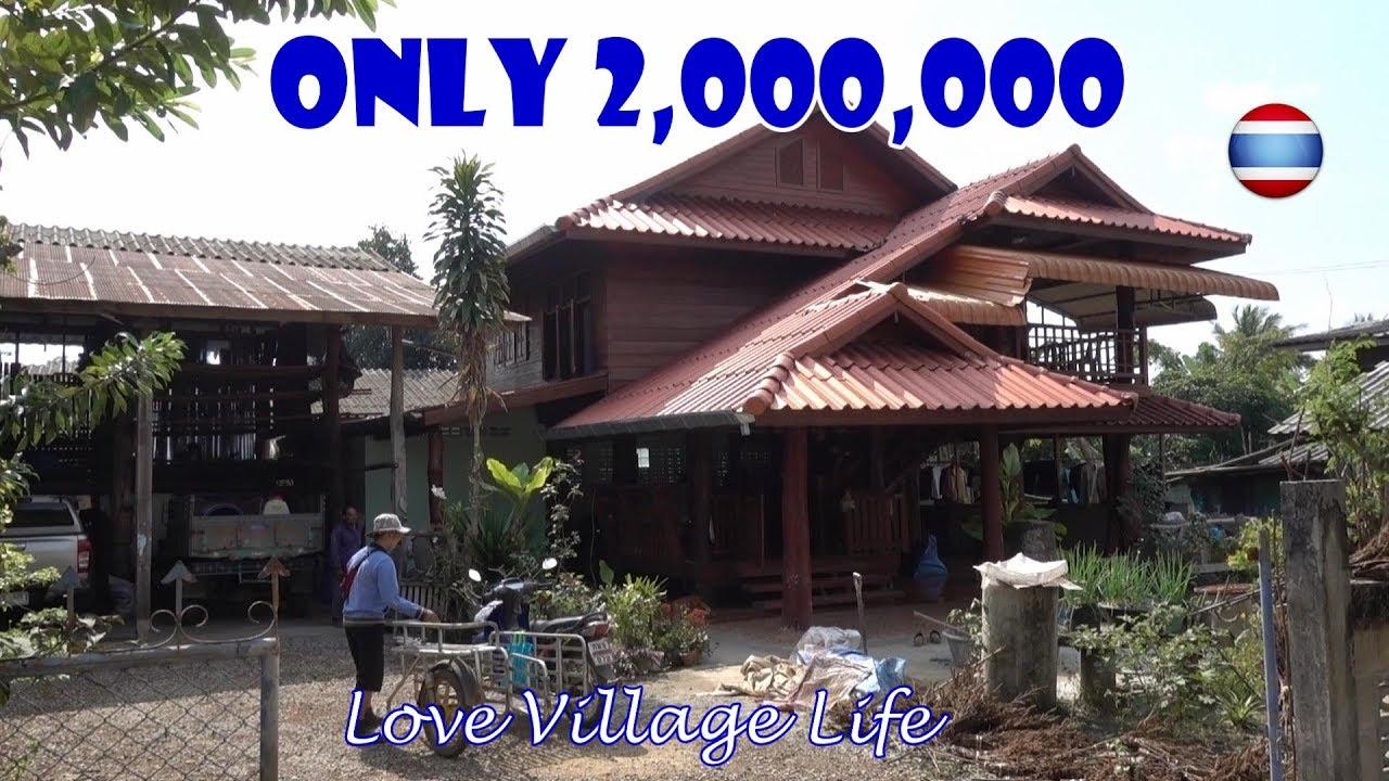 Thai Teak Wood Houses Ban Tham Village Northern Thailand