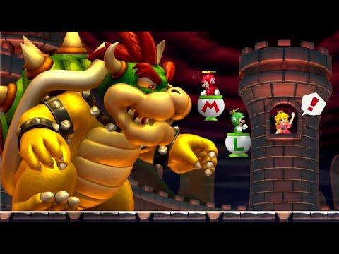New Super Mario Bros U Co Op Walkthrough World 8 Peach S Castle All Star Coins Youtube