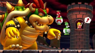 New Super Mario Bros. U Co-op Walkthrough - World 8 - Peach's Castle (All Star Coins)