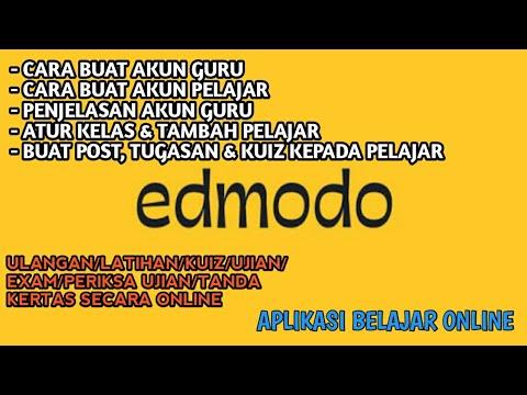 CARA MENGGUNAKAN APLIKASI EDMODO - YouTube