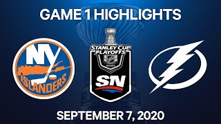 NHL Highlights | 3rd Round, Game 1: Islanders vs. Lightning – Sep. 7, 2020