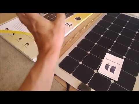 (:Review:) Semi-Flexible 100Watt Solar Panel for Boats, RV's, Car Camping & Boondocking