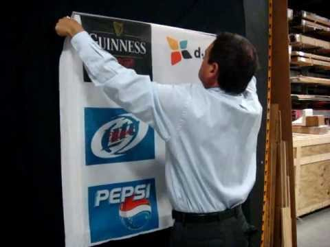 SignComp's video series Soft Signage System 3' x 3' fabric change-out in just 2 minutes
