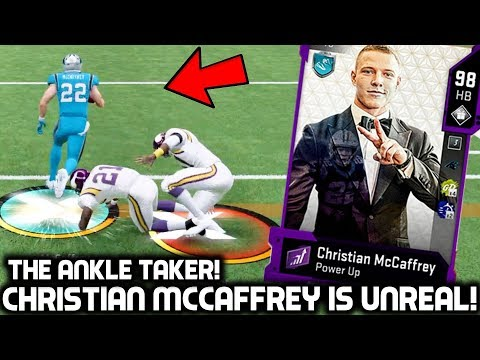 CHRISTIAN MCCAFFREY HAS UNREAL ANKLE BREAKERS! Madden 20 Ultimate Team