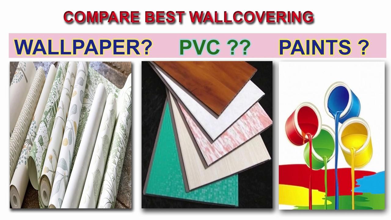 Paint Vs Wallpaper Vs Pvc Panel Comparison Wall Covering Material Celebration For Diwali Youtube