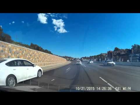 Car Accident on the 101 Freeway in Los Angeles caught on Dashcam