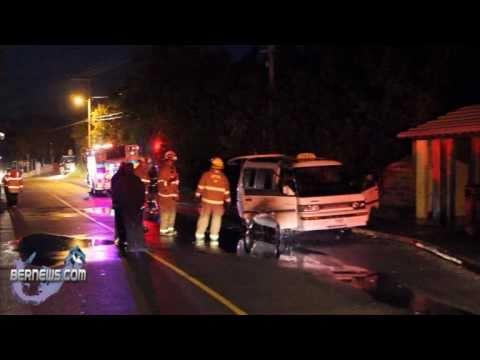 Taxi Fire in Hamilton Parish