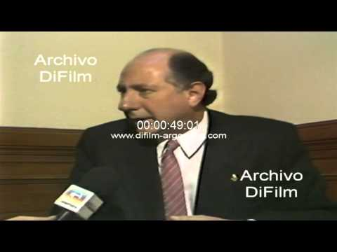 DiFilm - Mario Losada interpelacion al ministro Roberto Dromi 1990