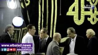 بالفيديو.. العامرى فاروق وناجى والشيخ فى عزاء طارق سليم